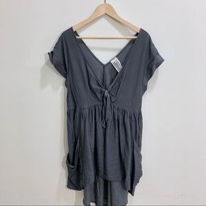 Free People Grey Tunic Sz XS
